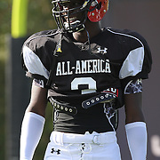Keelin Smith during the practice session at the Walt Disney Wide World of Sports Complex in preparation for the Under Armour All-America high school football game on December 3, 2011 in Lake Buena Vista, Florida. (AP Photo/Alex Menendez)