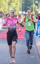 07.07.2019, Klagenfurt, AUT, Ironman Austria, Schwimmen, im Bild Daniela Ryf (SUI) // Daniela Ryf (SUI) during the swimming competition of the Ironman Austria in Klagenfurt, Austria on 2019/07/07. EXPA Pictures © 2019, PhotoCredit: EXPA/ Johann Groder
