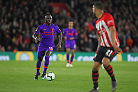 Football - 2018 / 2019 Premier League - Southampton vs. Liverpool<br /> <br /> Sadio Mane of Liverpool sets off on another run at the Southampton defence during the Premier League match at St Mary's Stadium Southampton <br /> <br /> COLORSPORT/SHAUN BOGGUST