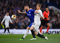 Football - 2018 / 2019 UEFA Europa League - Semi-Final, Second Leg: Chelsea (1) vs. Eintracht Frankfurt (1)<br /> <br /> Chelsea's Olivier Giroud holds off the challenge from Eintracht Frankfurt's Martin Hinteregger, at Stamford Bridge.<br /> <br /> COLORSPORT/ASHLEY WESTERN