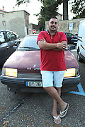 Razvan at a Romanian adoptees' weekend near Lyon, organised by the charity AFOR (Association Française Orphelins de Roumanie) in August 2016, in front of his famous Renault 25