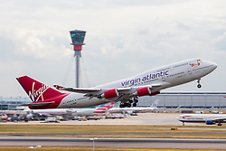 © under license to London News Pictures.FILE PHOTO Virgin Atlantic Boeing 747 Aircraft at London Heathrow<br /> <br /> Photo credit should read IAN SCHOFIELD/LNP