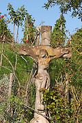 crucifix in the vineyard pfaffenheim alsace france