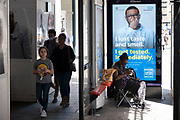 HM Government, Public Health England, NHS advertising boards advise people to take precautions as some non-essential shops re-open, shoppers return to Oxford Street while social distancing measures are put in place by the various retail shops which are open on 26th June 2020 in London, England, United Kingdom. As the July deadline approaces and government will relax its lockdown rules further, the West End remains quiet, apart from this popular shopping district, which itself has far fewer people on its pavements than normal.