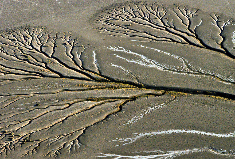 Mudflats caused by extremely high tides in the Sea of Cortez.