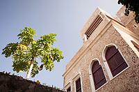 The stunning architecture of Lamu Town, Kenya.