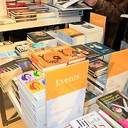 NLD/Amsterdam/20130309 - Feest der Letteren 2013 in de Bijenkorf te Amsterdam, stapels boeken