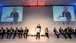 A Senadora Anamélia Lemos durante a abertura oficial da HOSPITALAR 2014 - 21ª Feira Internacional de Produtos, Equipamentos, Serviços e Tecnologia para Hospitais, Laboratórios, Farmácias, Clínicas e Consultórios, que acontece de 20 a 23 de maio de 2014, no Expo Center Norte, em São Paulo. FOTO: Jefferson Bernardes/Preview.com