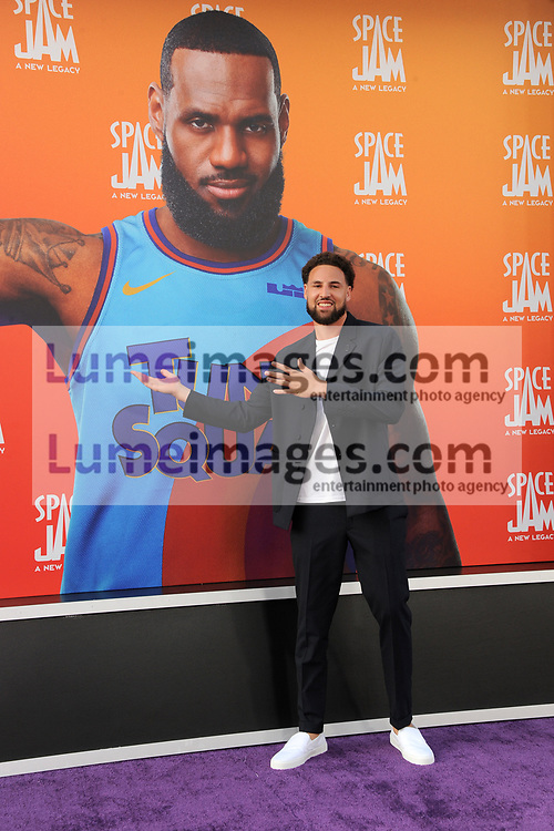 Klay Thompson at the Los Angeles premiere of 'Space Jam: A New Legacy' held at the Regal LA Live in Los Angeles on July 12, 2021.