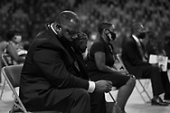 The late U.S. Congressman John Lewis, a pioneer of the civil rights movement and long-time member of the U.S. House of Representatives who died July 17, lies in repose at Troy University's Trojan Arena in Troy, Alabama, U.S. July 25, 2020. REUTERS/Christopher Aluka Berry