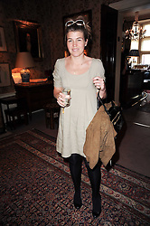AMBER AIKENS at a party to celebrate the publication of Gentlemen & Blackguards by Nicholas Foulkes at Mark's Club, 46 Charles Street, London W1 on 24th May 2010.