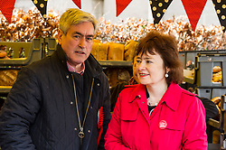 Pictured: Iain Gray and Sarah Boyack helped out at the Allgourmane Bread stall.<br /> <br /> The former Scottish Labour leader Iain Gray joined colleague Sarah Boyack activists and supporters at a street stall at Stockbridge Market. <br /> Ger Harley | EEm 10 April 2016
