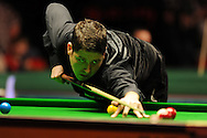Matthew Stevens of Wales during his matchh against Barry Hawkins.  888 Welsh open snooker day 3 action at the Newport Centre in Newport , South Wales on Wed 15th Feb 2012.  pic by Andrew Orchard, Andrew Orchard sports photography,