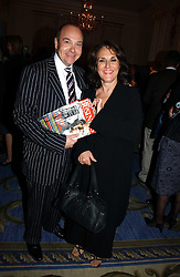 Actress LESLEY JOSEPH and her husband at a party to celebrate the launch of The Business - London's First Global Business Magazine held at the Mandarin Oriental Hyde Park, 66 Knightsbridge, London on 11th October 2006.<br />