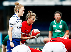 Keira Bevan of Wales puts in to the scrum<br /> <br /> Photographer Simon King/Replay Images<br /> <br /> Six Nations Round 5 - Wales Women v Ireland Women- Sunday 17th March 2019 - Cardiff Arms Park - Cardiff<br /> <br /> World Copyright © Replay Images . All rights reserved. info@replayimages.co.uk - http://replayimages.co.uk