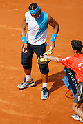 Roland Garros. Paris, France. June 6th 2007..1/4 Finals..Rafael NADAL against Carlos MOYA..