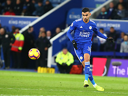 December 8, 2018 - Leicester, England, United Kingdom - Leicester, December 08, 2018.Leicester City's Rachid Ghezzal.during the English Premier League match between Leicester City and Tottenham Hotspur at the King Power Stadium in Leicester, Britain, 8 December 2018  (Credit Image: © Action Foto Sport/NurPhoto via ZUMA Press)
