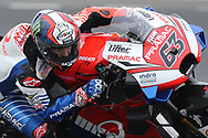 #63 Francesco Bagnaia, Italian: Alma Pramac Racing Ducati during the MotoGP Grand Prix de France at the Bugatti Circuit at Le Mans, Le Mans, France on 18 May 2019.
