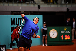 May 6, 2019 - Madrid, Spain - Robert Lindstedt (SWE) during day three of the Mutua Madrid Open at La Caja Magica in Madrid on 6th May, 2019. (Credit Image: © Juan Carlos Lucas/NurPhoto via ZUMA Press)