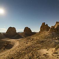 Trona Pinnacles under a full moon takes on a Mars-like appearance. © John McBrayer