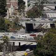 Traffic on San Diego freeway. San Diego, CA.