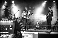 Soundcheck of Icelandic indie-electro band Vök at Zoom Club in Frankfurt