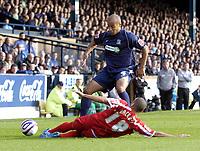 Photo: Olly Greenwood.<br />Southend United v Carlisle United. Coca Cola League 1. 27/10/2007. Southend's Lewis Hunt and Carlisle's Simon Hackney