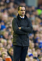04.01.2014, Goodison Park, Liverpool, ENG, FA Cup, FC Everton vs Queens Park Rangers, 3. Runde, im Bild Everton's manager Roberto Martinez // during the English FA Cup 3rd round match between Everton FC and Queens Park Rangers at the Goodison Park in Liverpool, Great Britain on 2014/01/04. EXPA Pictures © 2014, PhotoCredit: EXPA/ Propagandaphoto/ David Rawcliffe<br /> <br /> *****ATTENTION - OUT of ENG, GBR*****