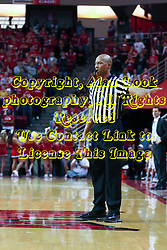 09 January 2010: Referee Bert Smith. The Panthers of Northern Iowa topple the Redbirds of Illinois State 59-44 on Doug Collins Court inside Redbird Arena at Normal Illinois.