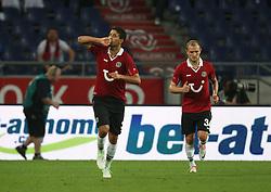 FootballL: Europa League, Qualification, Hannover 96 - St. Patricks Athletic, Hannover, 09.08.2012..Karim Haggui (Hannover) celebrates scoring first goal..©pixathlon