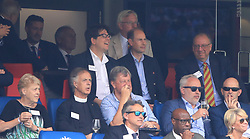 Michael McIntyre and Prince Edward in the stands during the ICC Cricket World Cup group stage match at Lord's, London.