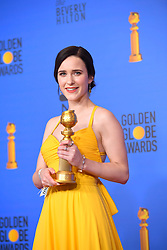 January 6, 2019 - Los Angeles, California, U.S. - Rachel Brosnahan in the Press Room during the 76th Annual Golden Globe Awards at The Beverly Hilton Hotel. (Credit Image: © Kevin Sullivan via ZUMA Wire)