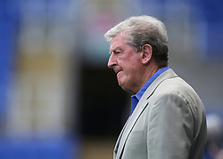 """Crystal Palace Manager Roy Hodgson  prepares for kick off during the pre-season friendly match at the Madejski Stadium, Reading. PRESS ASSOCIATION Photo. Picture date: Saturday July 28, 2018. See PA story SOCCER Reading. Photo credit should read: Mark Kerton/PA Wire. RESTRICTIONS: EDITORIAL USE ONLY No use with unauthorised audio, video, data, fixture lists, club/league logos or """"live"""" services. Online in-match use limited to 75 images, no video emulation. No use in betting, games or single club/league/player publications."""