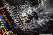 """9th of Jan 2016<br /> <br /> Dramatic rescues as refugee deaths in Aegean reach record high<br /> <br /> MOAS team make a sighting of a large rubber dinghy with 48 people onboard ( 8 males, 16 females and 14 children). The boat is in distress in the heavy swell. Three men are then spotted in sea by the MOAS searchlight. The men looking exhausted are encouraged to swim and grasp hold of the Jacobs ladder hanging on the side of the MOAS Rescue ship, Responder. With rescues swimmers at the ready, the men are pulled to safety. The men had fallen from the dinghy and could not climb back due to the high seas and their boat being already so overcrowded. Their rubber boat with their family members aboard was then safely brought alongside the Responder and all remaining 45 people, mainly Syrians were brought on deck, exhausted<br /> <br /> ATHAGONISI - Search and rescue charity Migrant Offshore Aid Station (MOAS) has assisted hundreds of refugees from hostile seas between Turkey and Greece since it began operating in the region just before Christmas.<br />  <br /> The MOAS crew has witnessed shocking scenes of life and death, having led complex deep water and nearshore rescues over the past four weeks. The human toll has been described as """"distressing"""" and """"desperate"""" by reporters who have been embedded with MOAS.<br />  <br /> MOAS, which saved almost 12,000 refugees from the Mediterranean Sea since 2014, expanded its operations to the Aegean Sea thanks to thousands of donations that reached the organisation after the horrific death of Alan Kurdi, a Syrian toddler who was photographed washed ashore on a Turkish beach last September.<br />  <br /> The charity is operating off the Greek island of Agathonisi from a 51-metre vessel equipped with two fast rescue launches named after Alan and his brother Galip, who also died in September's shipwreck.<br />  <br /> According to the International Organisation for Migration (IOM), 2016 appears to be a record year for both refugee ar"""