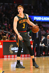 January 29, 2019 - Los Angeles, CA, U.S. - LOS ANGELES, CA - JANUARY 28: Atlanta Hawks Guard Kevin Huerter (3) looks to make a pass during a NBA game between the Atlanta Hawks and the Los Angeles Clippers on January 28, 2019 at STAPLES Center in Los Angeles, CA. (Photo by Brian Rothmuller/Icon Sportswire) (Credit Image: © Brian Rothmuller/Icon SMI via ZUMA Press)