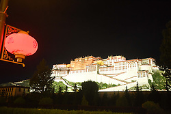 September 4, 2017 - Lhasa, Lhasa, China - Lhasa, CHINA-30th August 2017: (EDITORIAL USE ONLY. CHINA OUT)..Night view of Potala Palace in Lhasa, southwest China's Tibet. (Credit Image: © SIPA Asia via ZUMA Wire)