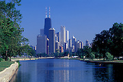Image of the Chicago skyline from Lincoln Park, Chicago, Illinois, American Midwest by Randy Wells