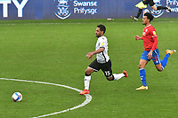 Football - 2020 / 2021 Sly Bet Championship - Swansea City vs Queens Park Rangers - Liberty Stadium<br /> <br /> Wayne Routledge of Swansea City breaks clear<br /> <br /> COLORSPORT/WINSTON BYNORTH