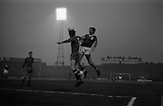 05/05/1965<br /> 05/05/1965<br /> 05 May 1965<br /> Ireland v Spain, World Cup Qualifier at Dalymount Park, Dublin. Ignacio Zoco (6) Spain gets the ball in front of Ireland's Noel Cantwell. Ireland won the game 1-0.