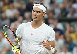 July 13, 2018 - Angleterre - Wimbledon - Rafael Nadal Espagne (Credit Image: © Panoramic via ZUMA Press)