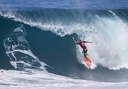 December 8, 2017 - Banzai Pipeline, HI, USA - BANZAI PIPELINE, HI - DECEMBER 8, 2017 - Patrick Gudauskas competes in the World Surf League Men's Pipe Invitational at Backdoor Pipeline  Friday to qualify for the upcoming Billabong Pipe Masters. (Credit Image: © Erich Schlegel via ZUMA Wire)
