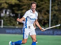 AMSTELVEEN - Sander de Wijn (m) heeft de stand op 2-4 gebracht  tijdens de hoofdklasse hockeywedstrijd mannen, Pinoke-Kampong (2-5) . COPYRIGHT KOEN SUYK