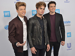 Forever In Your Mind arrives at We Day California 2017 held at The Forum in Inglewood, CA on Thursday, April 27, 2017. (Photo By Sthanlee B. Mirador) *** Please Use Credit from Credit Field ***
