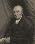 William Hyde Wollaston (1766-1828), English chemist, born at East Dereham, Norfolk, England.  Wollaston discovered Palladium (1804), Rhodium (1805), and Ductile Platinum. In spectroscopy he worked on the Fraunhofer lines in the solar spectrum. From James Sheridan Muspratt 'Chemistry' London, c1860). Engraving.