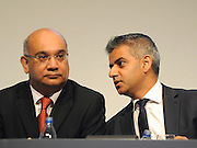 © Licensed to London News Pictures. 28/09/2011. LONDON, UK. (L-R) Keith Vaz MP talks with Sadiq Khan MP, Shadow Justice Secretary, at The Labour Party Conference in Liverpool today (28/09/11). Photo credit:  Stephen Simpson/LNP