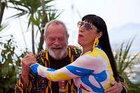 Director Terry Gilliam, Actress Rossy De Palma at The Man Who Killed Don Quixote  film photo call at the 71st Cannes Film Festival, Saturday 19th May 2018, Cannes, France. Photo credit: Doreen Kennedy