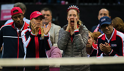 November 10, 2018 - Prague, Czech Republic - Sofia Kenin & Danielle Collins of the United States watch their team mates at the 2018 Fed Cup Final between the Czech Republic and the United States of America (Credit Image: © AFP7 via ZUMA Wire)