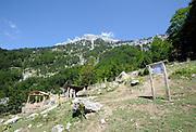 Coffee shop, Bar, Kafe, Restorant  below the Valbone pass. Valbone, Albania 04Sep15