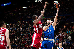 December 29, 2017 - Assago, Milan, Italy - Stefan Jankovic (#16 Crvena Zvezda Mts Belgrade) shoots a layup during a game of Turkish Airlines EuroLeague basketball between  AX Armani Exchange Milan vs Crvena Zvzda Mts Belgrade at Mediolanum Forum in Milan, Italy, on 29 december 2017. (Credit Image: © Roberto Finizio/NurPhoto via ZUMA Press)