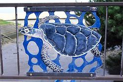 Turtle Art On Gate